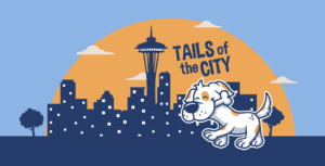 Tails of the city logo and illustration